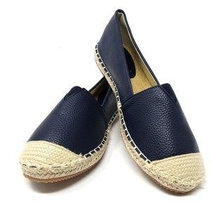 Women's Flat Loafer Espadrilles, E-2815, Navy